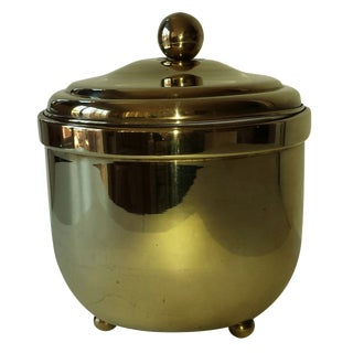Brass Footed Ice Bucket