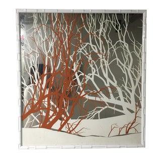 1970s Mirror in Jonathan Adler Bamboo Frame