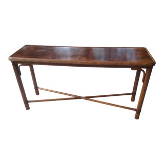 Vintage Rattan Burrow Wood Table