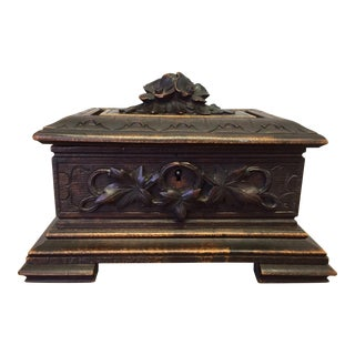 Antique Small Black Forest Box