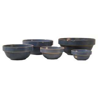 Vintage American Pottery Bowls - Set of 5