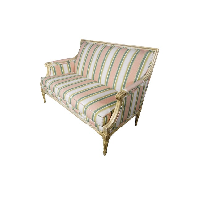 Image of Carved Settee Sofa Loveseat