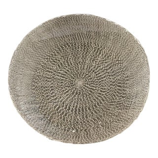 Silver Twisted Metal Basket Bowl