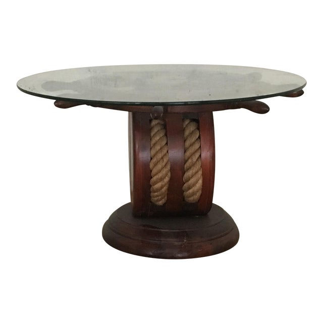 Nautical Ships Wheel Side Table Chairish