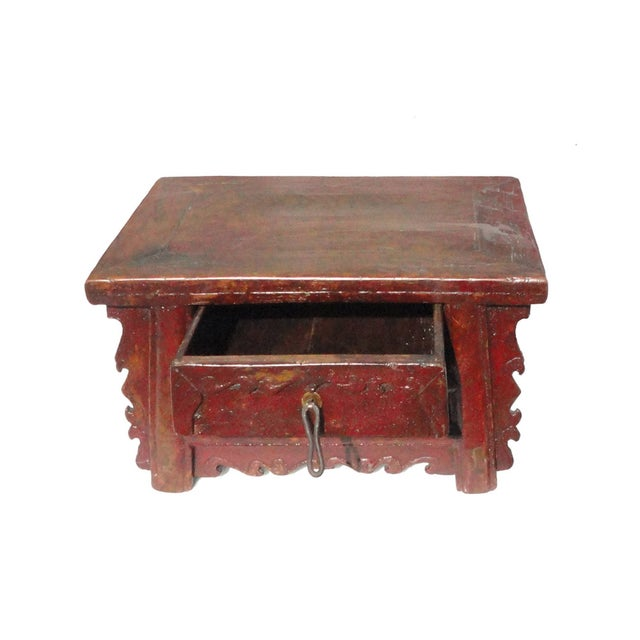 Chinese Old Rustic Small Low Chest Table - Image 2 of 6