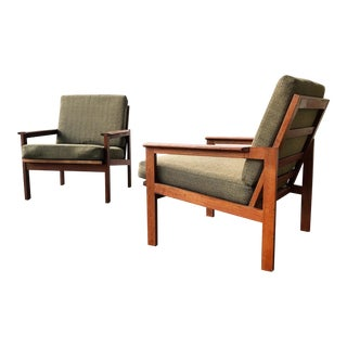 Illum Wikkelso for N. Eilersen Teak Lounge Chairs - Pair