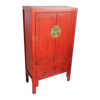 Red Lacquer Armoire