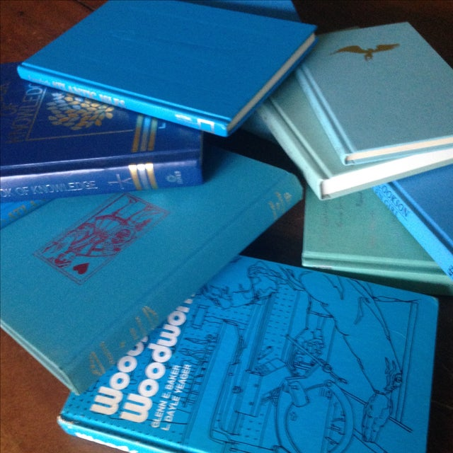 Set of Bright Blue Decorative Books - 11 - Image 6 of 11