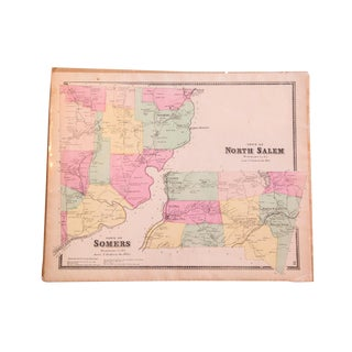 Antique Somers & North Salem NY Map