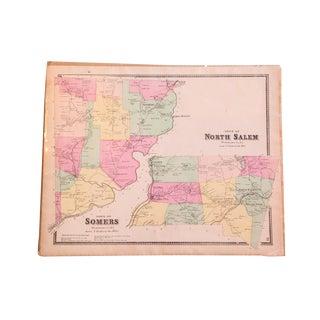 Antique Somers & North Salem NY Map
