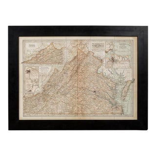 Sarreid Ltd. 1897 Framed Map of Virginia