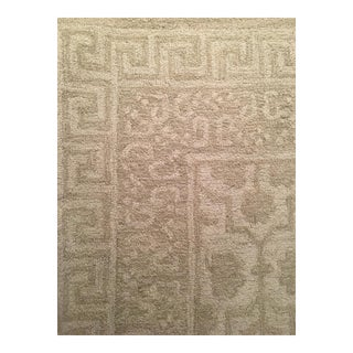 Pottery Barn Ivory Wool Tufted Rug - 8' x 10'