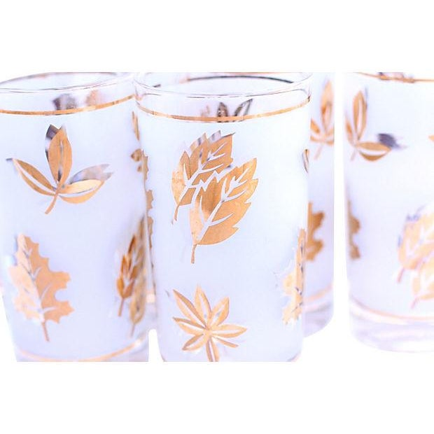 Frosted Leaf Glasses - Set of 6 - Image 2 of 4