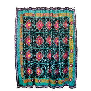 Vintage Teal Suzani Tapestry