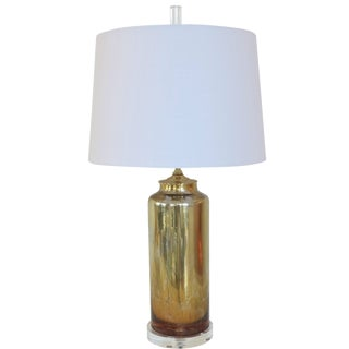 Italian Gold Mercury Blown Glass Lamp