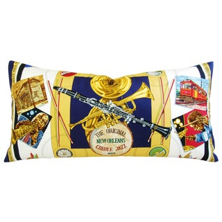 "Designer Hermes ""New Orleans Creole Jazz"" Pillow"