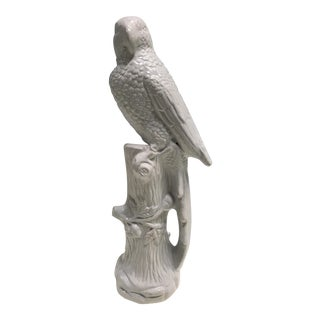 Whiteware Parrot Large Statue