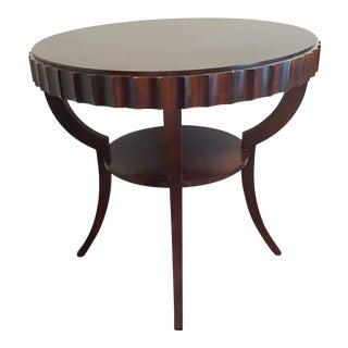 Barbara Barry Baker Fluted Mahogany Occasional Table