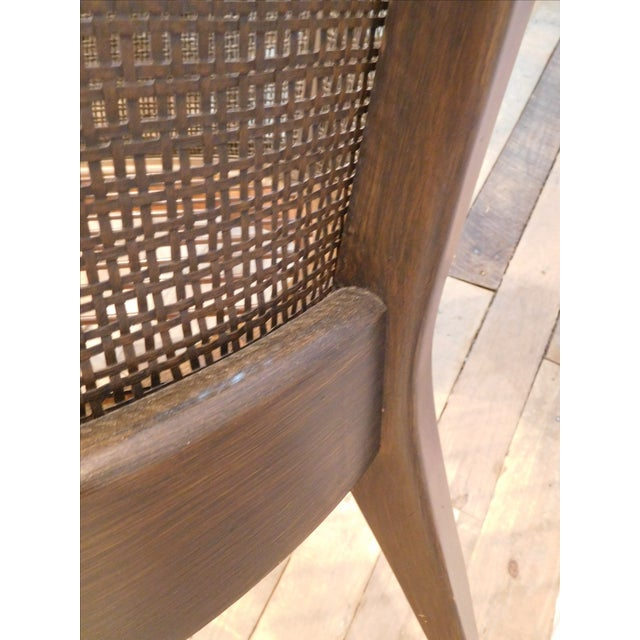 Image of Vintage Wicker Barrel Back Accent Chair