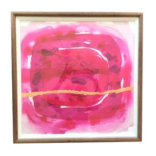 Framed Painting - Wabi Sabi Fuschia