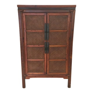 Asian-Style Wooden Armoire