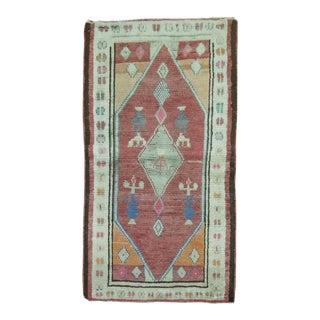 Vintage Turkish Oushak Rug, 2'6'' x 4'2''