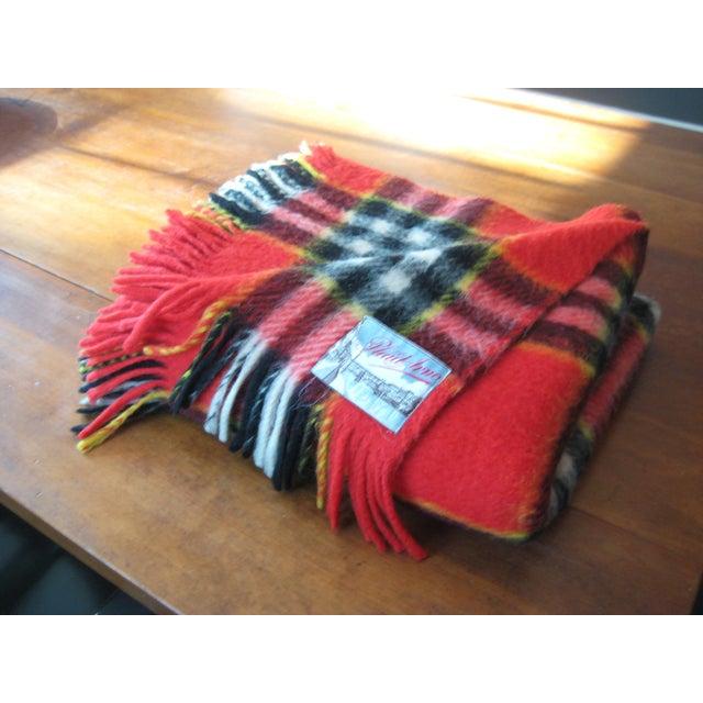 Red Plaid Arno Wool Camp Blanket - Image 2 of 6