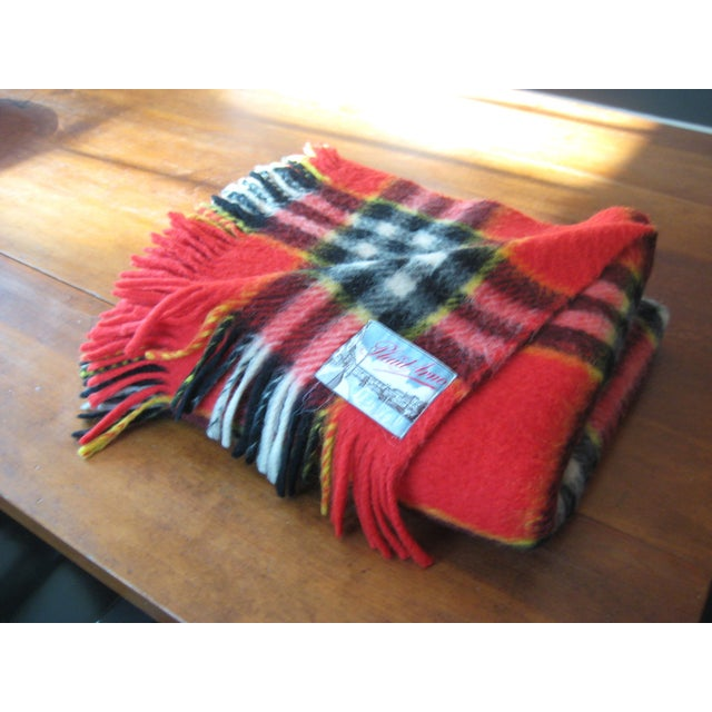 Image of Red Plaid Arno Wool Camp Blanket