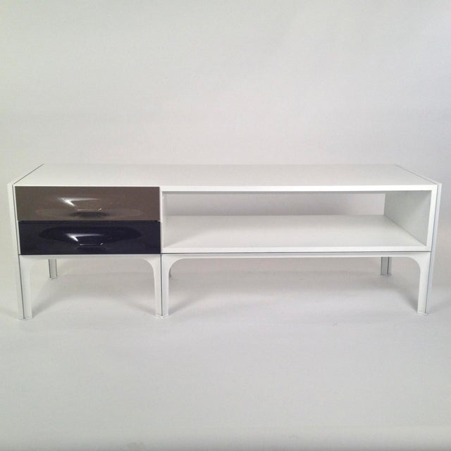 Raymond Loewy Free Standing Low Two Sided Cabinet/ Coffee Table - Image 2 of 6
