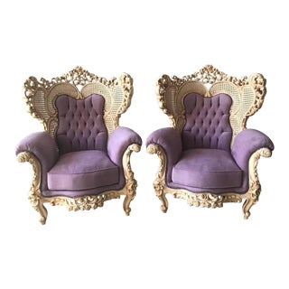 Italian Rococo Style Chairs - A Pair