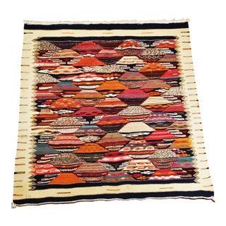 Moroccan Zanafi Reversible Wool Area Rug - 3′5″ × 3′8″
