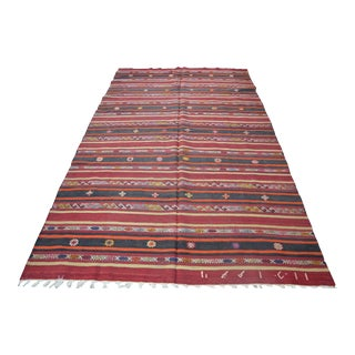 Turkish Kilim Rug - 5′6″ × 9′8″