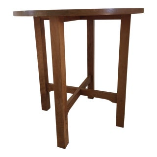 Stickley Inlaid Cherry Lamp Table