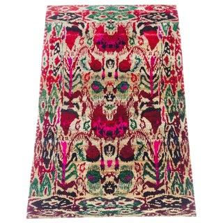 """Vintage & Vibrant India Silk Ikat """"Sari"""" Rug - 4′ × 6′"""