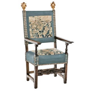 18th Century Italian Walnut Arm Chair