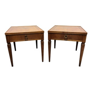 Baker Furniture Mid-Century Neo-Classical Side Tables - A Pair