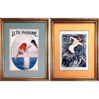 1920's La Vie Parisienne Bathing Beauties Prints - Pair