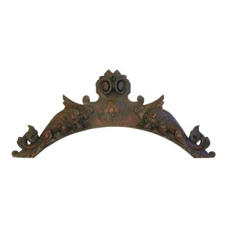 Antique French Carved Wood Architectural Detail
