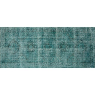 "Vintage Turkish Overdyed Runner - 4'10"" x 13'"