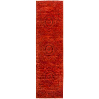 """Hand Knotted """"Vibrance"""" Runner Rug - 3' X 10' 2"""""""