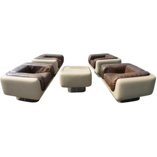 Steelcase Soft Seating Leather Set, 1970 - Set of 5