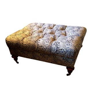 Traditional Drexel Heritage Tufted Ottoman