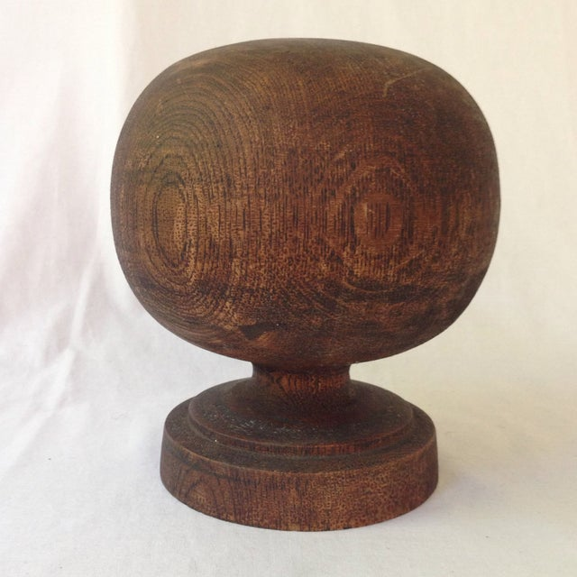 Wooden spherical finial chairish for Wooden finials for crafts
