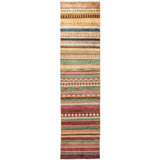 Lori Hand Knotted Runner - 2′ × 8′1″