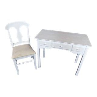 Whittier Furniture White Painted Children's Desk & Chair
