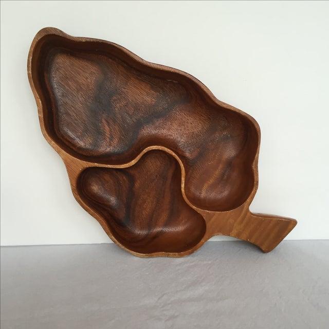 Wood Leaf Chip & Dip Bowl - Image 5 of 11
