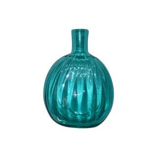 Petite Blown Glass Blue Bud Vase