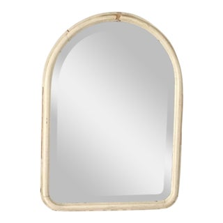 Vintage Shabby Chic Distressed Antique White Mirror