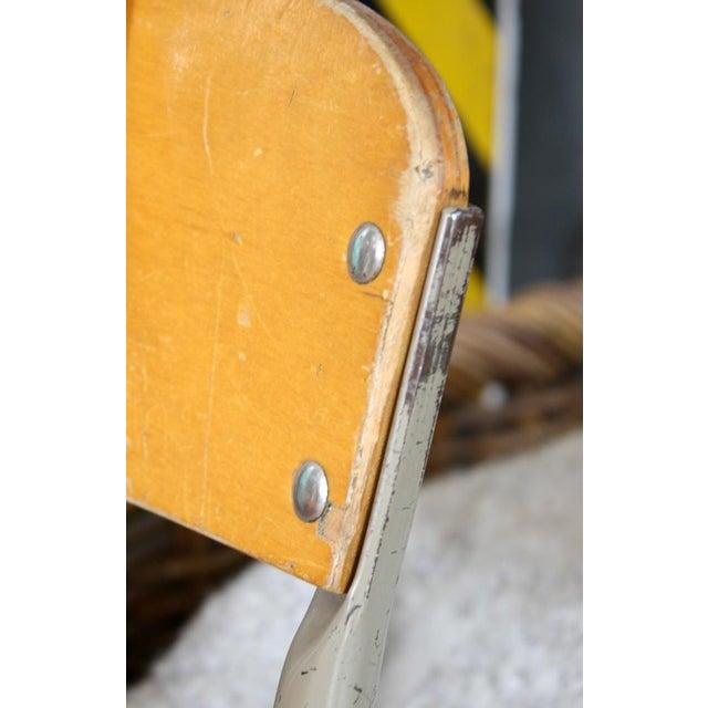 Image of Vintage Wood & Metal Children's Chair