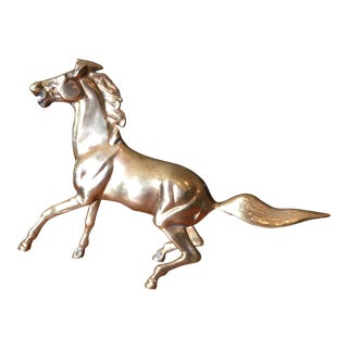 Mid-Century Solid Brass Horse